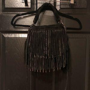 Zara suede fringe bag